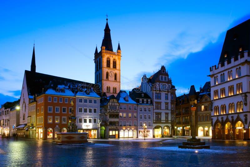 市场和圣Gangolf教会实验者的,德国 免版税库存照片