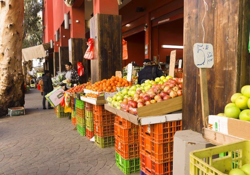 市场哈代拉以色列 免版税库存图片