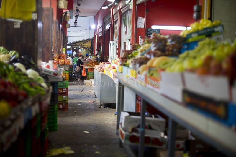 市场哈代拉以色列 库存图片