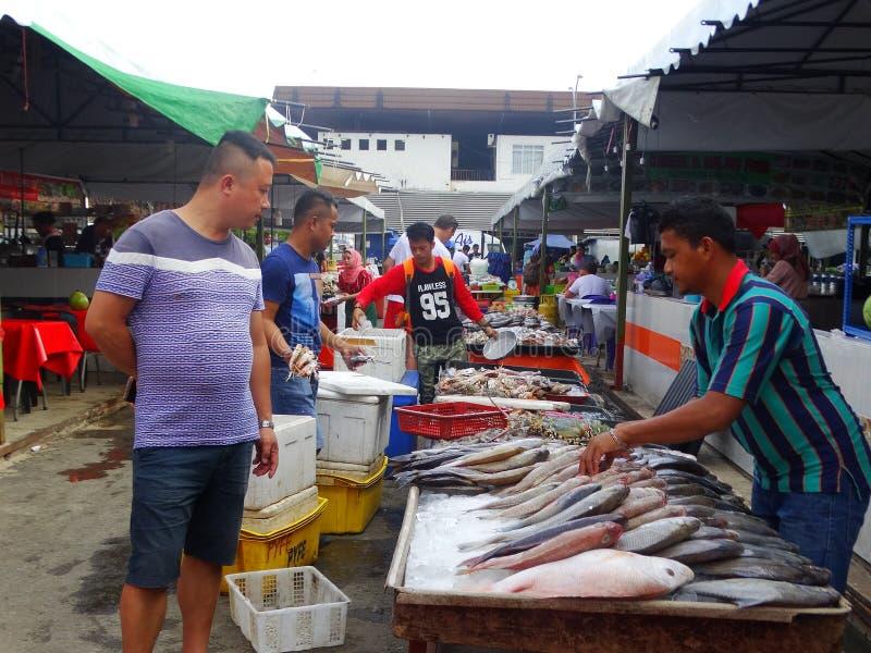 市场在亚庇,沙巴,马来西亚 免版税库存照片