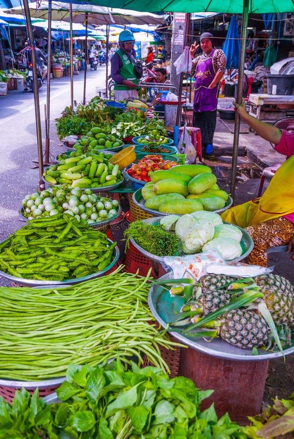 市场在合艾,泰国 图库摄影