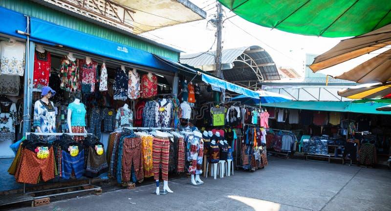 市场在廊开,泰国 免版税库存照片