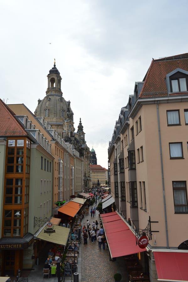 市场在德累斯顿 免版税图库摄影