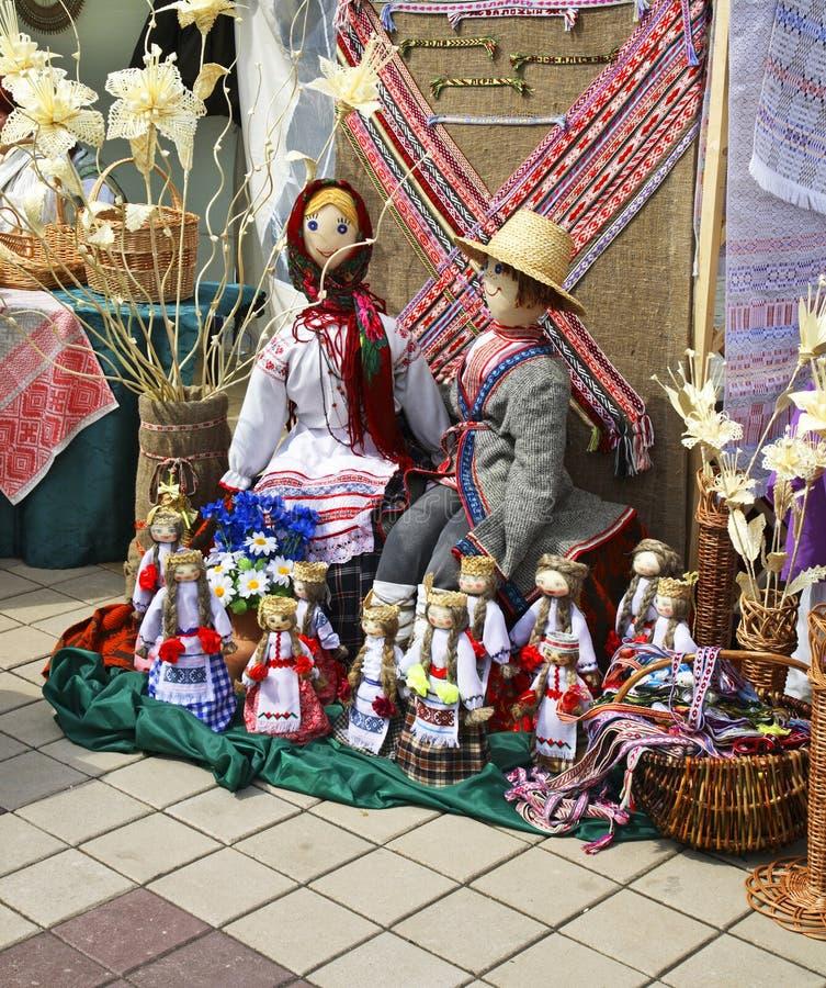 市场在莫洛杰奇诺镇 迟来的 免版税库存照片