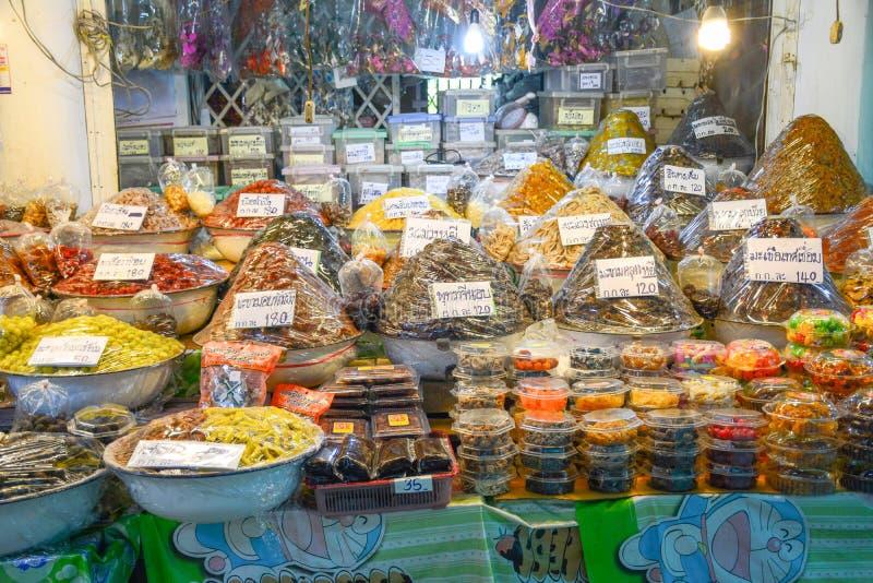 市场在阿尤特拉利夫雷斯,泰国 库存图片