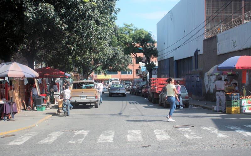 市场在Cumana市 免版税库存照片