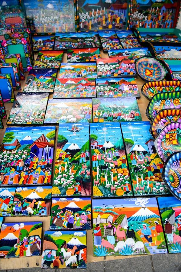 市场在Otavalo,厄瓜多尔 库存图片