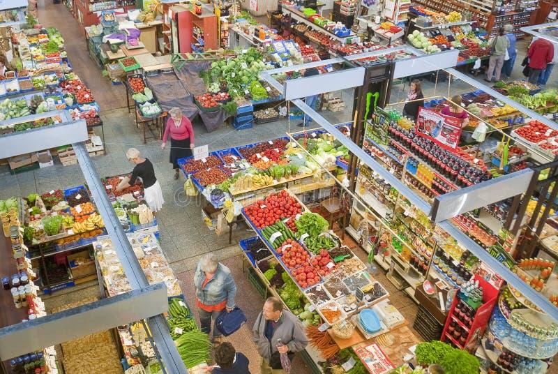 市场大厅在弗罗茨瓦夫,波兰 免版税库存照片