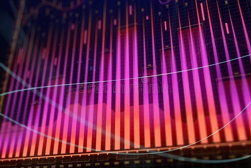 市场成长、财务和信息概念 库存例证