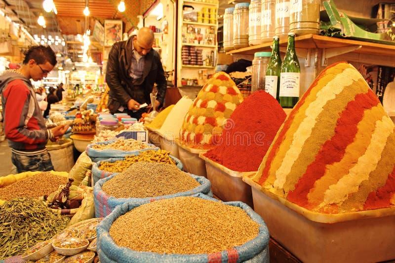 市场摩洛哥 库存照片