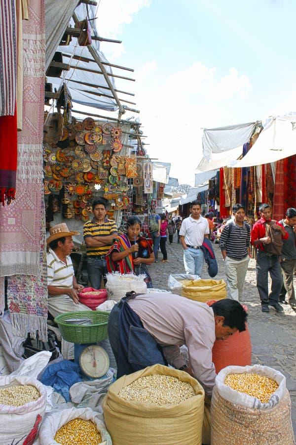 市场植入纺织品 免版税库存图片