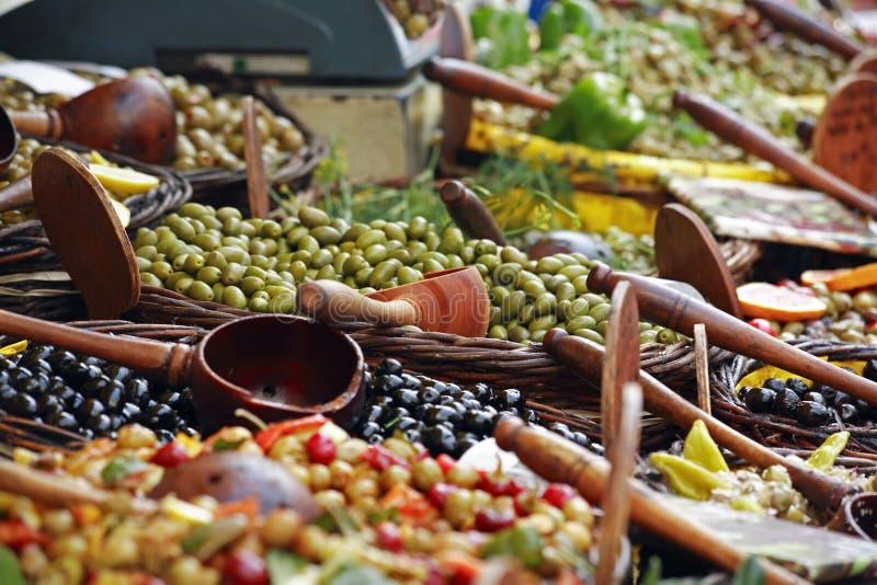 市场橄榄 库存照片