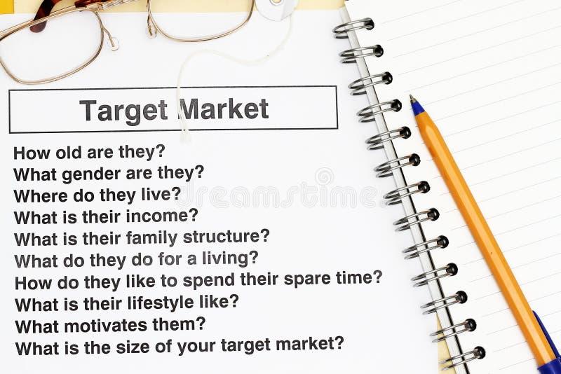 市场目标 免版税库存图片