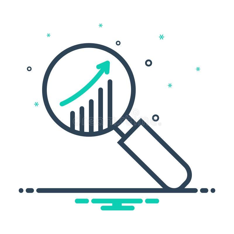 市场研究、分析和统计的黑混合象 库存例证