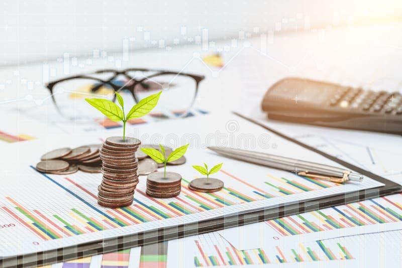 市场研究和企业年终报告背景 免版税库存图片