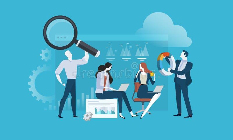 市场研究和SEO 库存例证