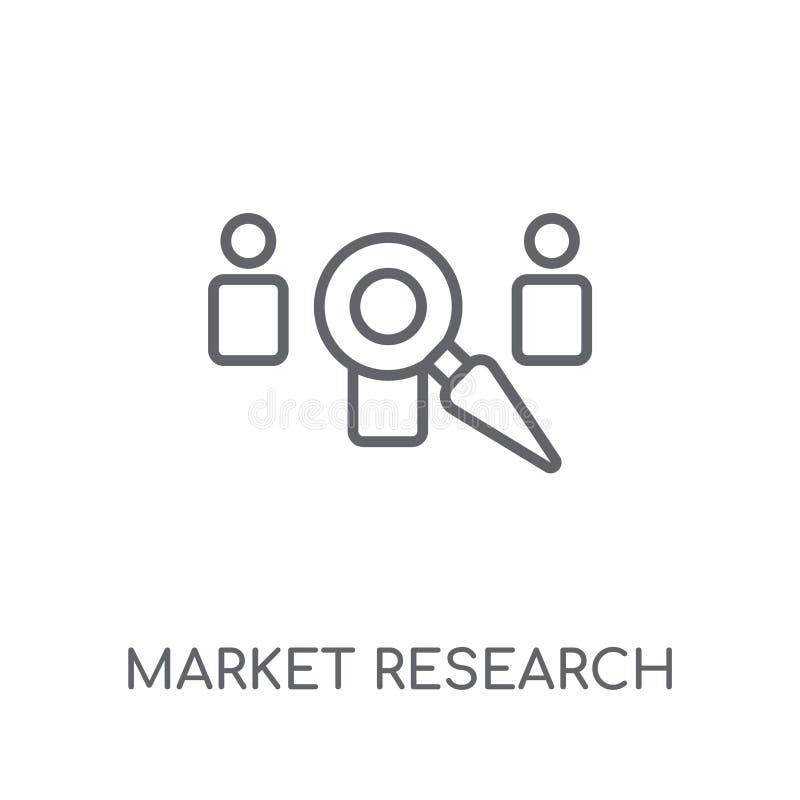 市场研究线性象 现代概述市场研究商标 皇族释放例证