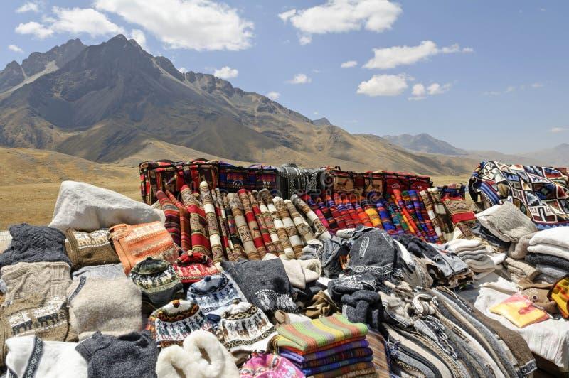 市场秘鲁人 库存照片