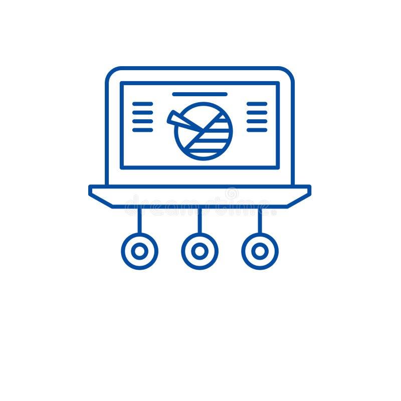 市场统计排行象概念 市场统计平的传染媒介标志,标志,概述例证 向量例证