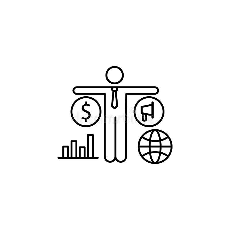 市场美元战略全球性象 消费者行为线象的元素 皇族释放例证