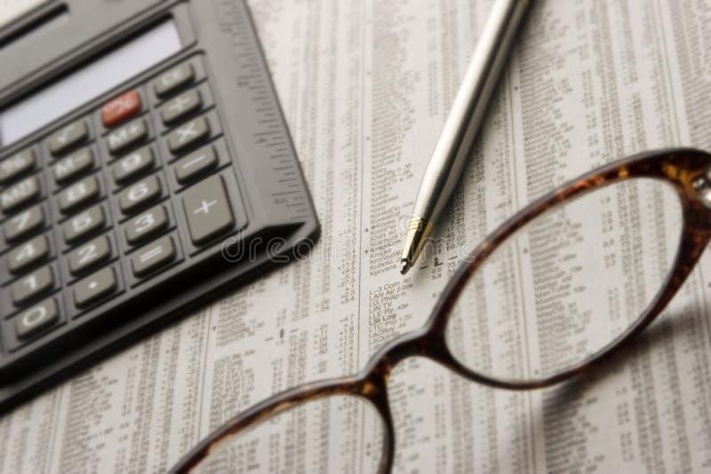 市场股票学习 免版税库存照片