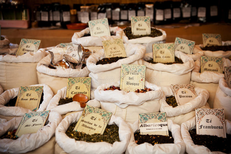 市场茶葡萄酒 免版税库存图片