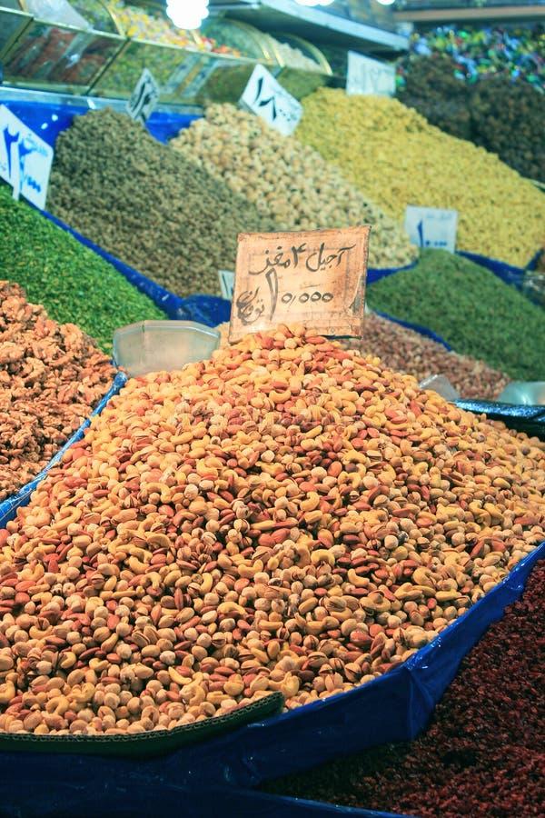 市场螺母德黑兰 免版税库存图片
