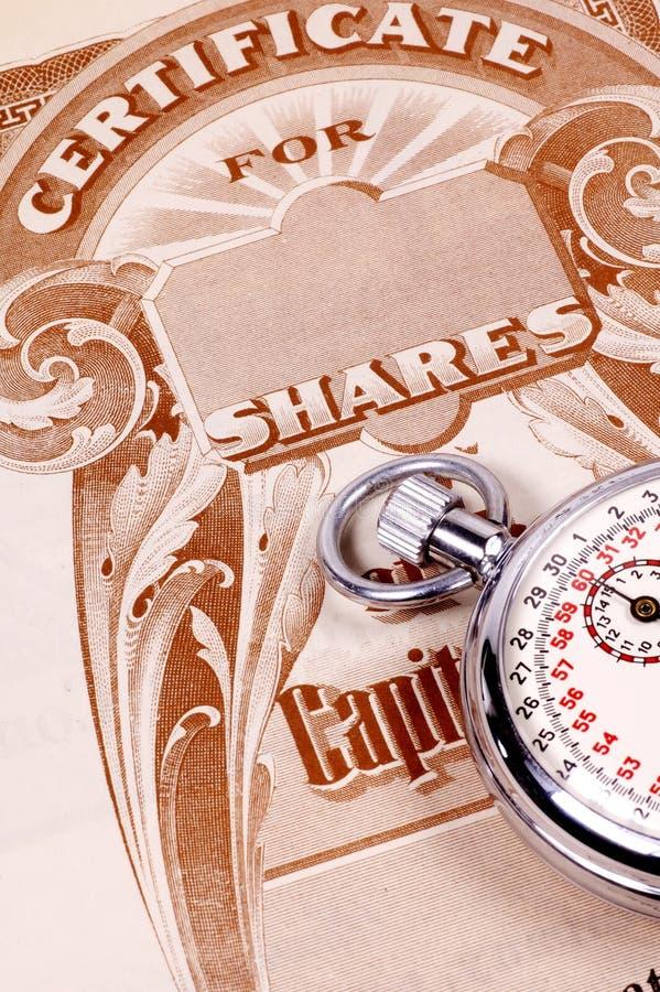 市场规定期限 免版税库存照片