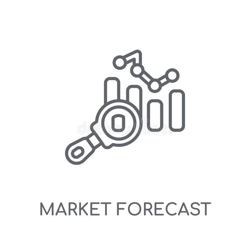 市场预测线性象 现代概述市场预测商标 向量例证