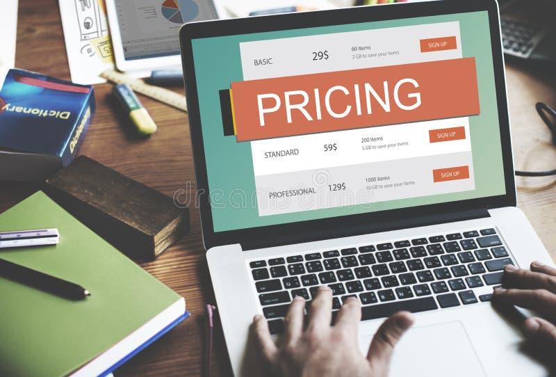 市场价价格促进价值概念 库存图片