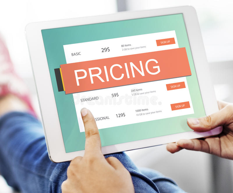 市场价价格促进价值概念 图库摄影