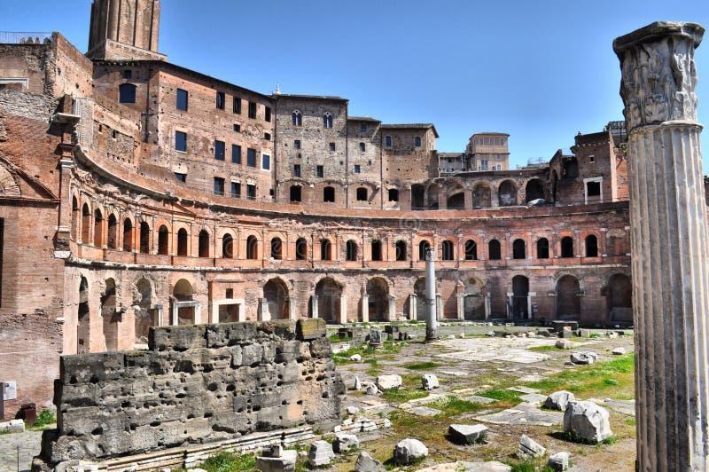 市场trajan的罗马 库存照片