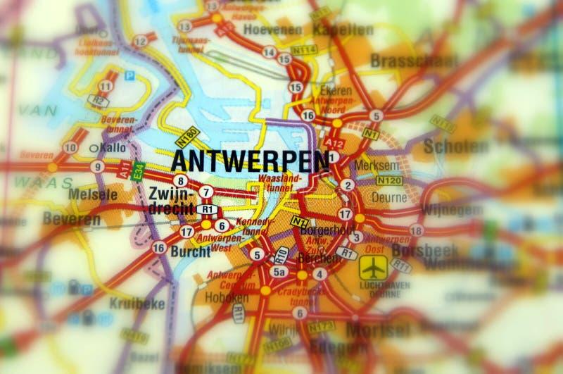 市安特卫普-比利时 免版税库存照片