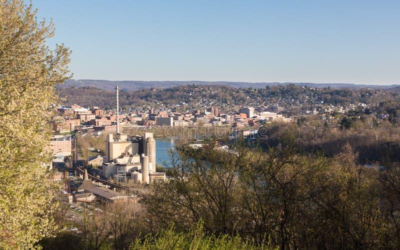 市摩根敦在西维吉尼亚 库存照片