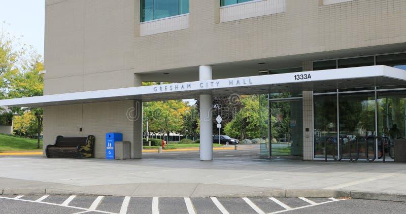 市政中心在格雷沙姆,俄勒冈 免版税库存图片