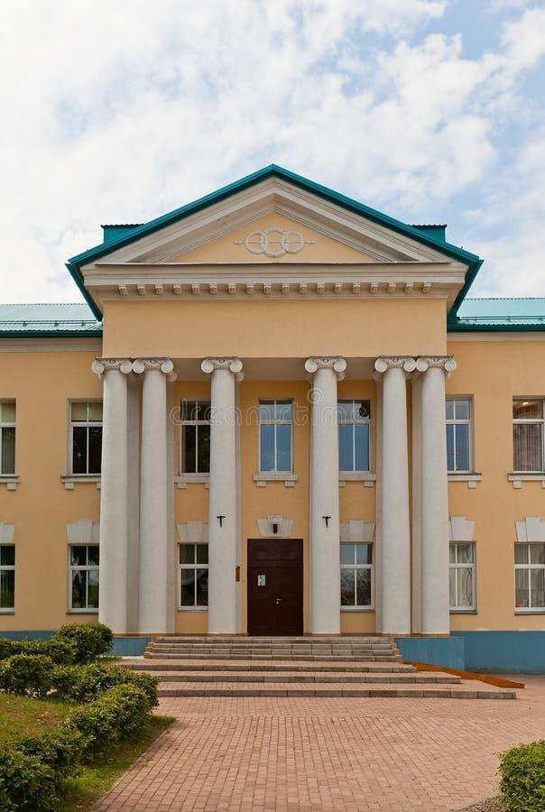 市政健身房(1915)在Dmitrov克里姆林宫,俄罗斯 库存图片