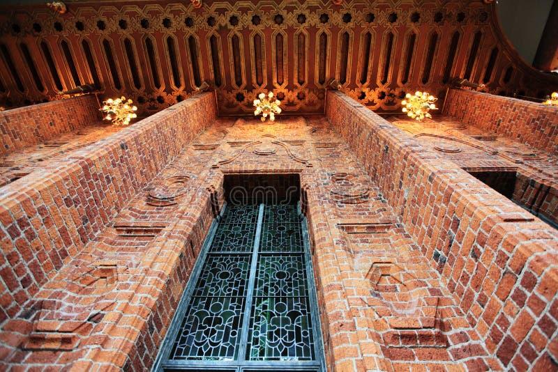 市政厅内部斯德哥尔摩 免版税图库摄影