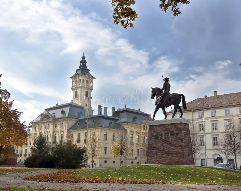 市政厅在塞格德,匈牙利。 库存图片