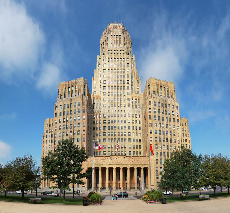 市政厅在水牛城 库存照片