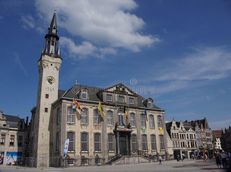 市政厅在Lier在比利时 图库摄影