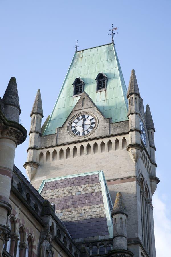 市政厅塔在温彻斯特的 库存照片