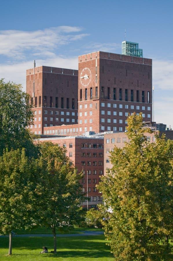 市政厅奥斯陆 库存图片