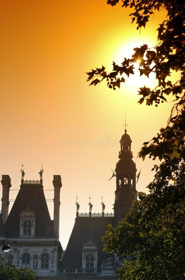 市政厅巴黎 图库摄影