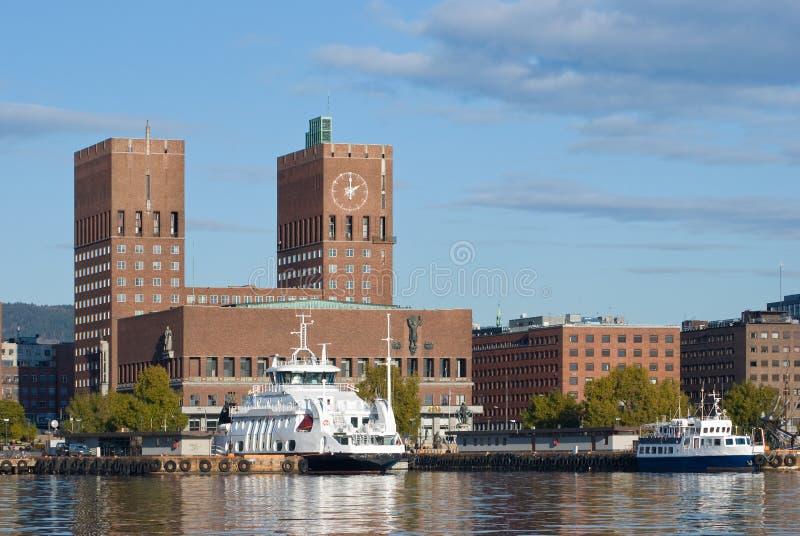 市政厅挪威奥斯陆 免版税库存图片