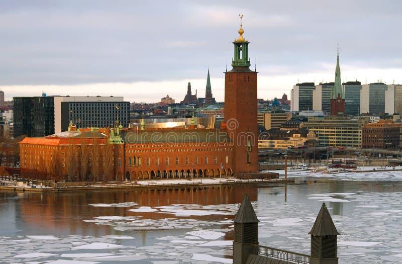 市政厅斯德哥尔摩 图库摄影