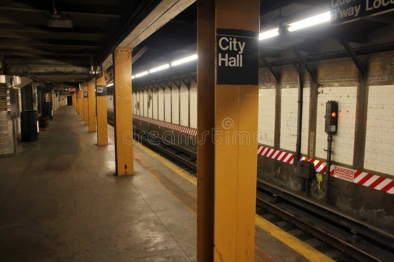 市政厅新的岗位地铁约克 免版税图库摄影