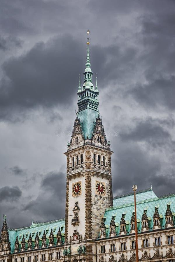市政厅汉堡 免版税库存图片