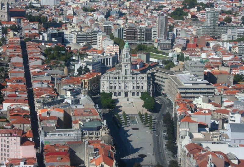 市政厅波尔图 免版税库存图片