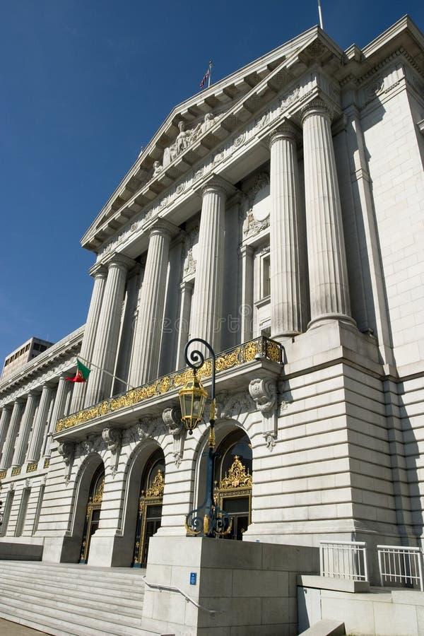 市政厅端 库存图片