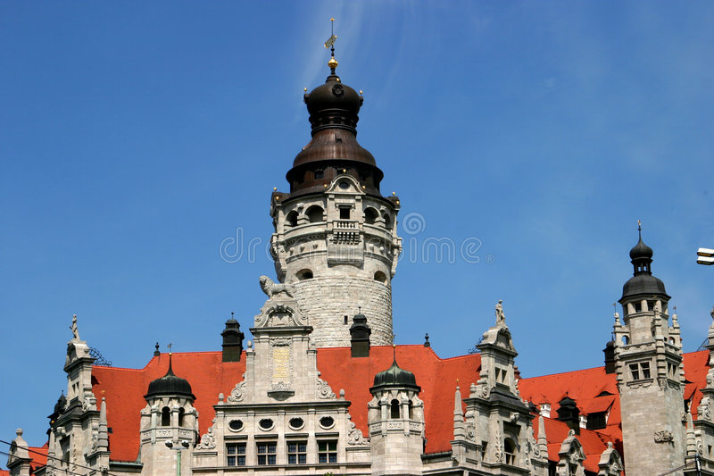 市政厅莱比锡 免版税库存照片